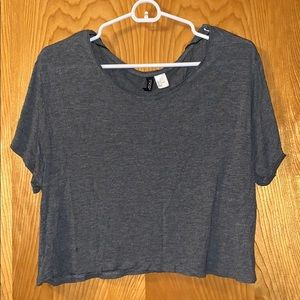 GREY H&M CROP TOP